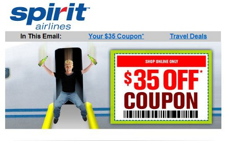 Spirit coupon